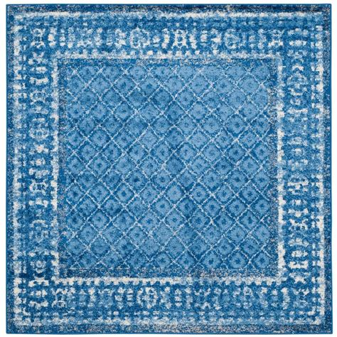 blue rugs 6 safavieh adirondack light blue blue 6 ft x 6 ft square area rug adr110f 6sq the home depot