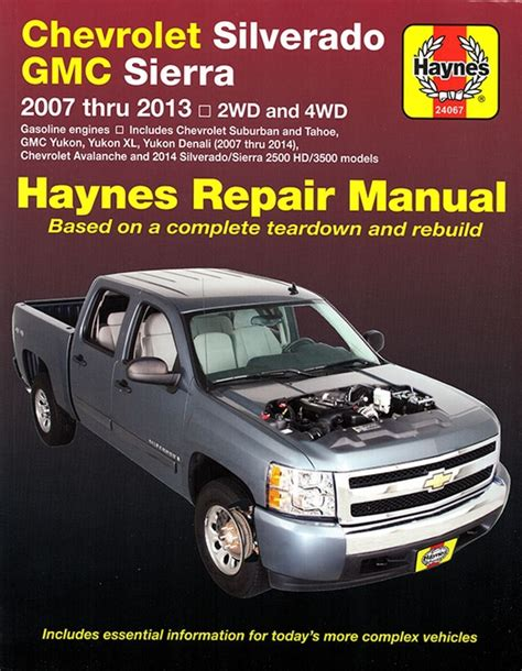 car engine manuals 2013 gmc yukon xl 2500 security system 2007 2013 chevy silverado repair manual haynes