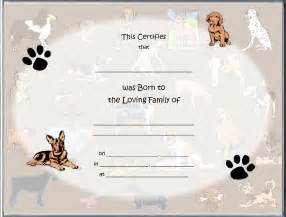 Pet Birth Certificate Template Pin Printable Pet Birth Certificate Template Pet Adoption