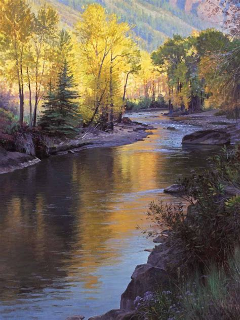 echoes of light colorado river landscape painting