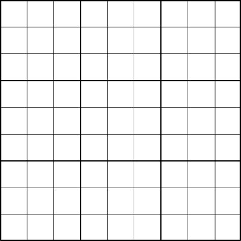 Printable Blank Sudoku Puzzle Grids | printable sudoku