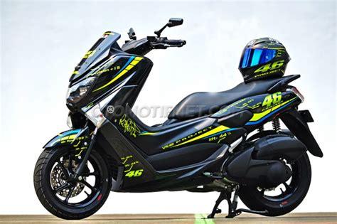 Cover Lu Belakang Nmax Keren modifikasi yamaha nmax 150 keren bergaya vr46 project v 2 0 otomotif grid id
