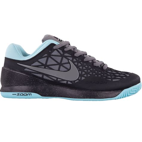 nike zoom cage 2 junior tennis shoe black grey