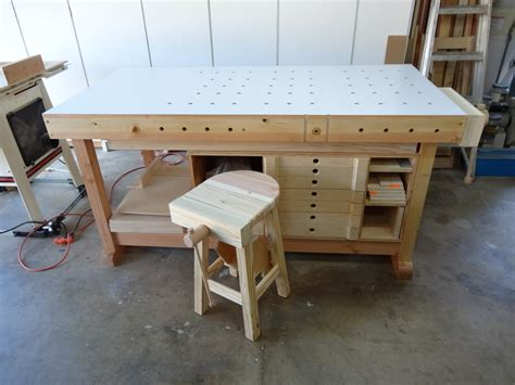 work bench stools flair woodworks shop stool build off trevor s workshop