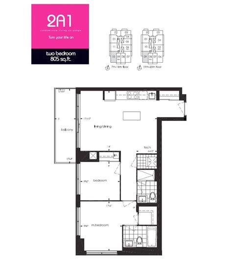 Toronto Floor Plans | neon condos central toronto