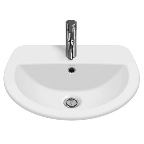 Caroma Vanity by Caroma White Cosmo Vanity Basin With 3 Tap Holes