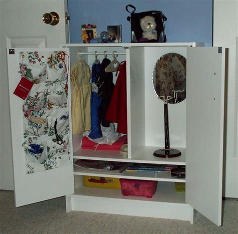 How To Make A American Doll Closet by Cabinet For American Dolls