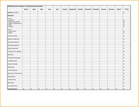 list of monthly expenses template expense reports free templates excel spreadsheet template