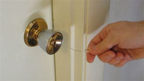 how to pick a bathroom door lock open simple household locks with a paper clip