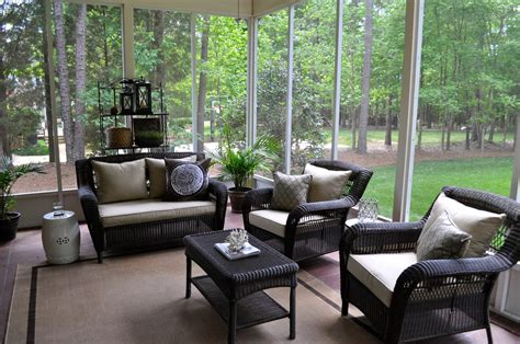 Porch And Patio Furniture The Collected Interior Our Screened Porch