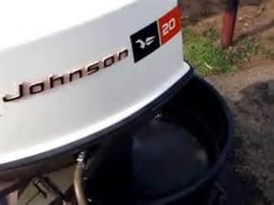 1972 20 hp johnson youtube