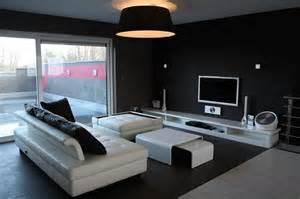 davaus net salon moderne design noir et blanc avec des
