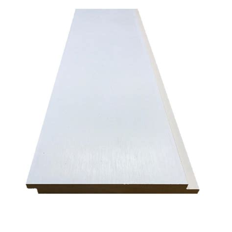 .591 in. x 6.000 in. x 96 in. Primed MDF Shiplap Interior Siding (8 Pack) 168PMDFSL8PK   The