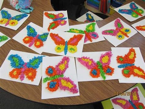 paper butterfly craft ideas tissue paper butterfly craft 171 preschool and homeschool