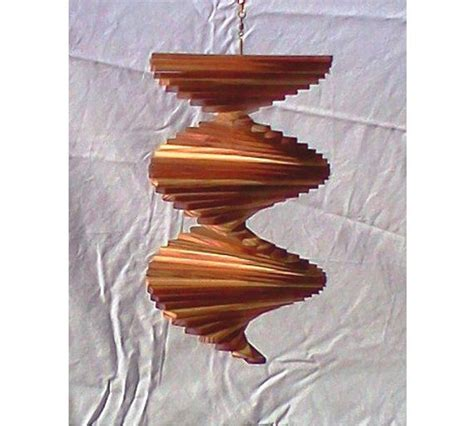 Handmade Wind Spinners - zen redwood wind spinner by artisanwindspinners on etsy