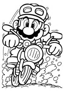 coloring pages for children mario on motorcycle coloring pages for printable