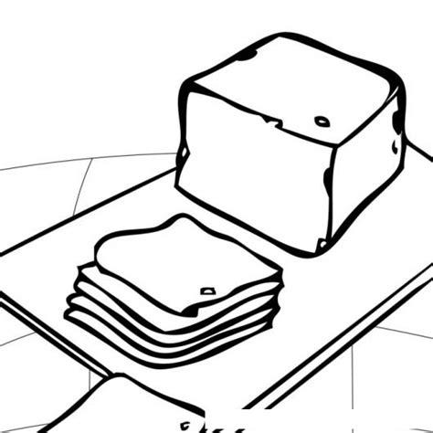 imagenes para pintar queso queso rodajado dibujo de rodajas de queso para pintar y