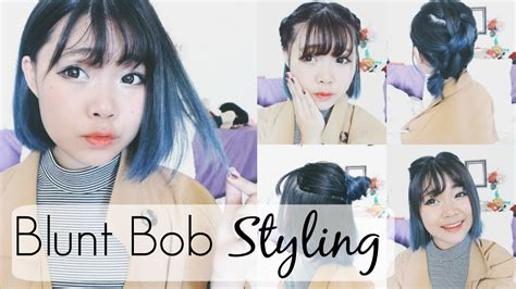 blunt bob haircuts youtube how to blunt bob hairstyles textured nontextured youtube
