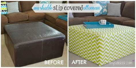 do it yourself ottoman diy slip covered ottoman