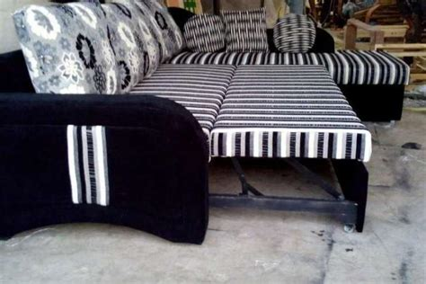 sofa cum bed in pune new l shaped sofa cum bed with storage in black and white