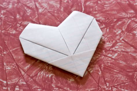 Fold Paper Hearts - c smartypants paper note fold tutorial