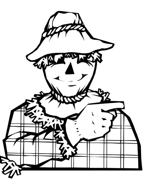 scarecrow coloring page pdf scarecrow coloring page printable fall coloring ebook
