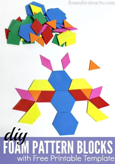 kindergarten pattern blocks printables 17 best images about math on pinterest shape math and count