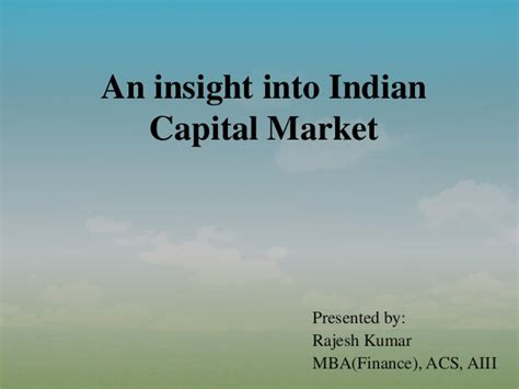 Mba In Capital Markets Part Time by Capital Market