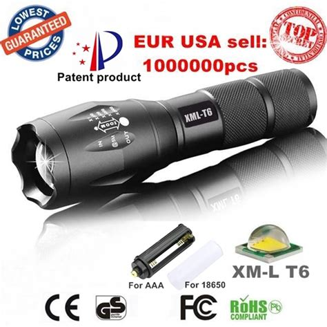 Cree Led L by Usa E17 Xm L T6 3800lm Tactical Cree Led Torch Zoomable