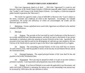 simple interest loan agreement template loan contract template 20 exles in word pdf free