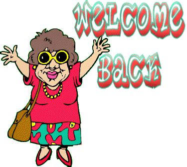 Welcome Back From Vacation Clipart