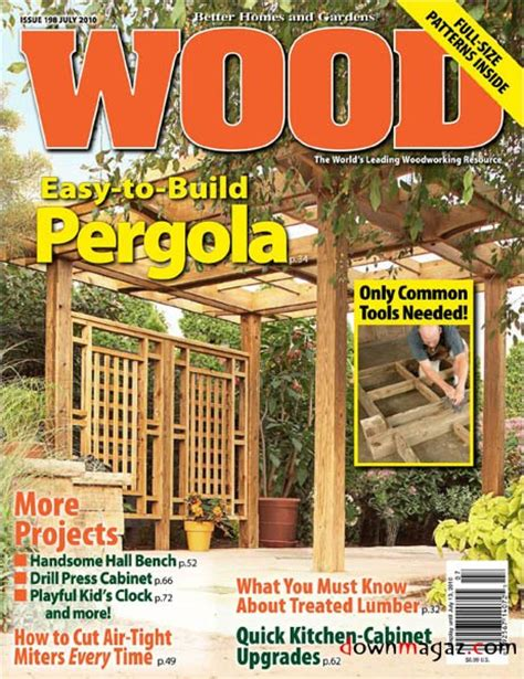 wood pattern magazines wood magazine july 2010 us 187 download pdf magazines