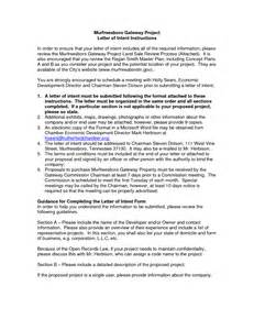 rfp letter of intent template best photos of letter of intent for sle