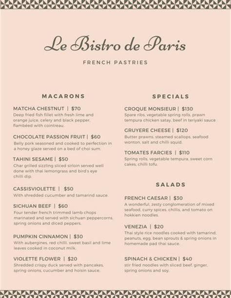 canva order form banquet menu template printable catering menu template
