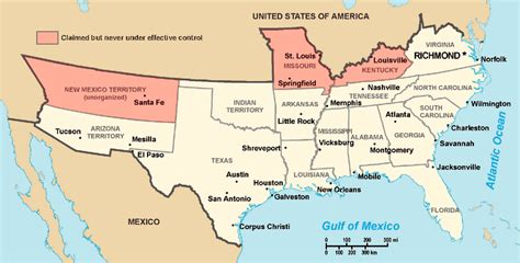 south secession map southern states secede civil war rights