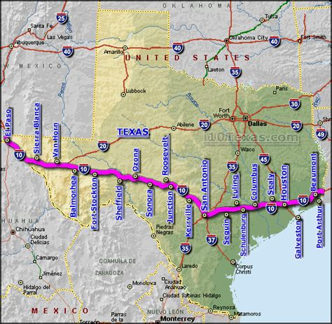 interstate map of texas i 10 highway images