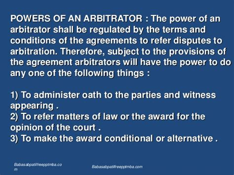 Which Subject To Choose In 11th For Mba by Arbitration Ppt Mba
