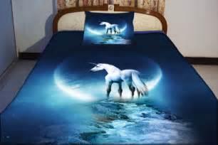 Where Can I Buy Duvets Blue Unicorn Duvet Cover Unicorn Bedding Set Both By Tbedding