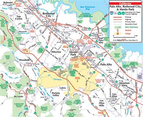 where is palo alto california on a map palo alto california map california map