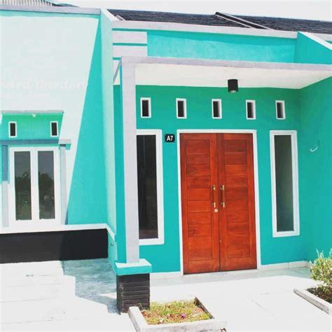 contoh cat luar rumah warna biru