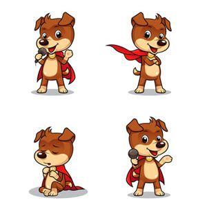 Clip art super hero dog dog clip art vector graphics