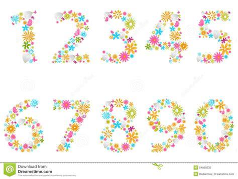 schöne len sch 246 ne blumenzahlen vektor abbildung illustration