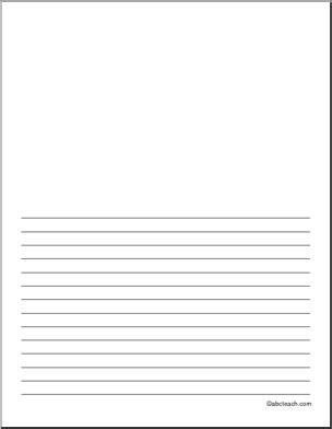 printable writing paper with space for drawing writing paper blank 22 pt portrait illustration space