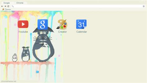 theme chrome totoro mor my neighbor totoro chrome theme themebeta