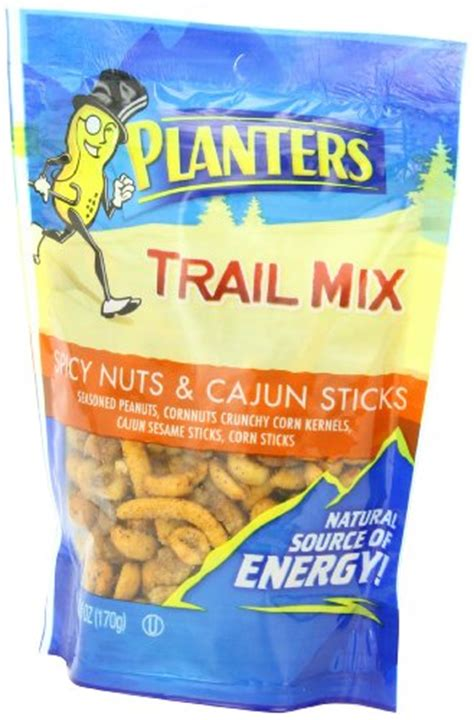 Planters Cajun Trail Mix by Planters Trail Mix Spicy Nuts Cajun Sticks 6 Ounce Pouches Pack Of 6 Food Beverages