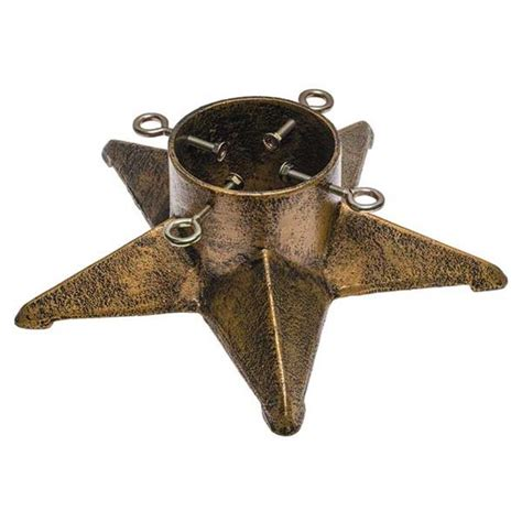 cast iron antique gold star christmas tree stand 16 quot