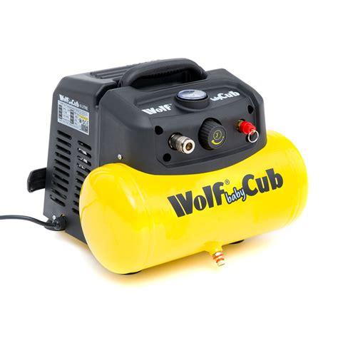 wolf baby cub  litre tank air compressor psi cfm