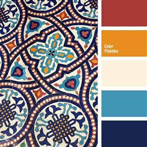 orange blue and blue all work together to create a contrasting color palette