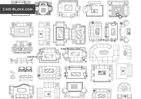 furniture layout plan in autocad living room furniture cad block blocks pinterest