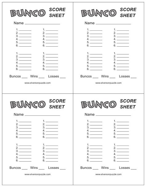 bunco cards templates this is the bunco score sheet page you can free